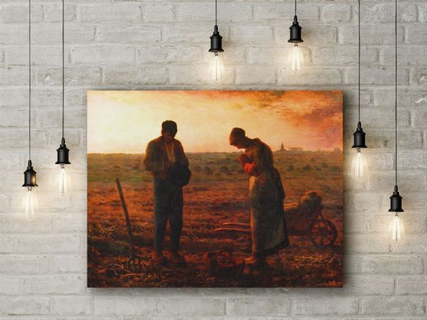 Jean Francois Millet: The Angelus. Fine Art Canvas.